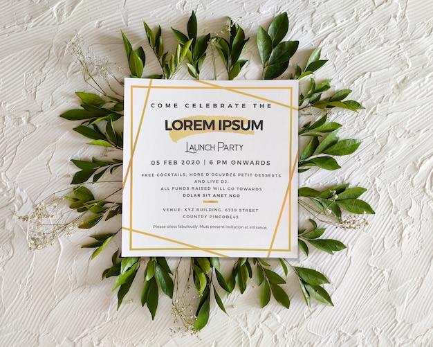 Convite para evento quadrado / modelo de folheto / cartaz