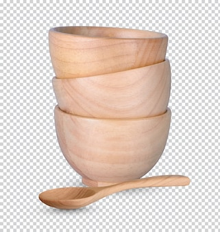 Copo de madeira isolado