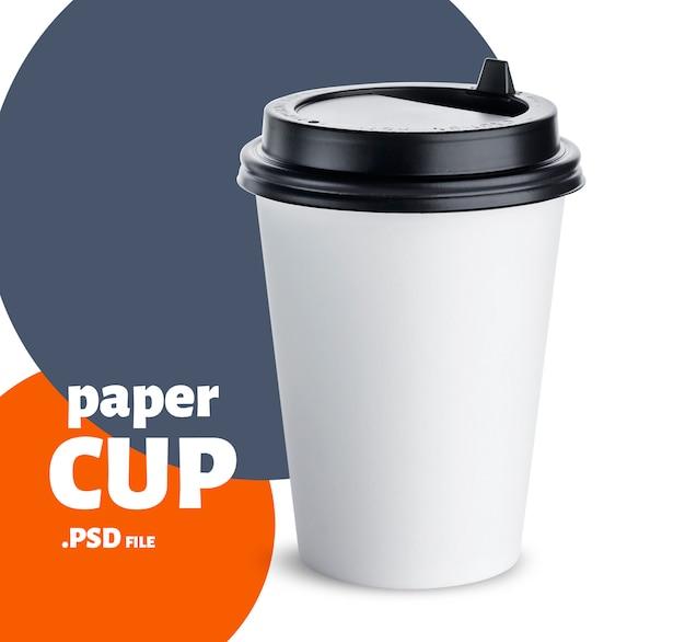 Copo de papel descartável mock-se isolado