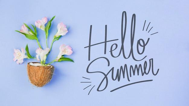 Copyspace maquete com conceito de verão