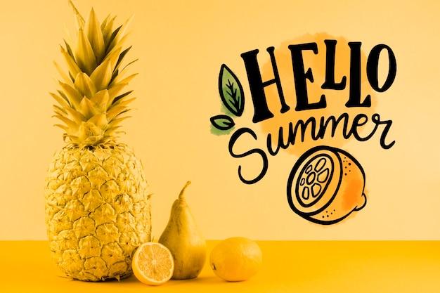 Copyspace maquete para conceitos de verão