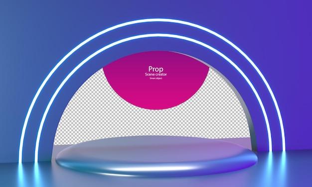 Cor crepuscular abstrata para maquete de produto modelo de estágio de produto pódio de círculo para vitrine