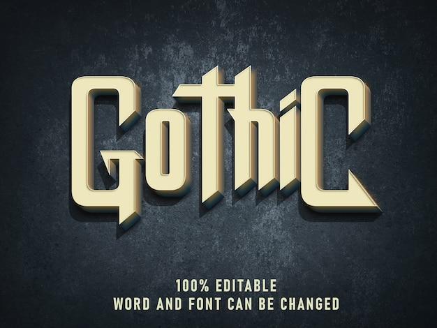 Cor de efeito de estilo de texto vintage gótico com estilo grunge retrô