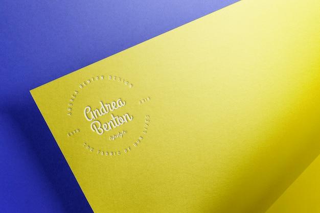 Cor do papel de maquete de logotipo Psd Premium