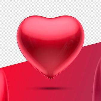 Coração 3d ícone vermelho