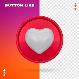 Coração com botão de gosto