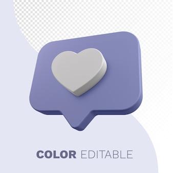 Coração do instagram 3d render