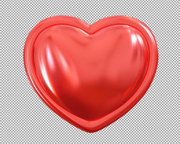 Coração metálico 3d