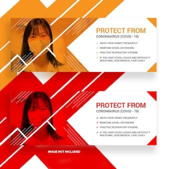 Coronavírus (covid-19) facebook banner