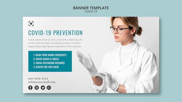 Coronavírus de design de modelo de banner