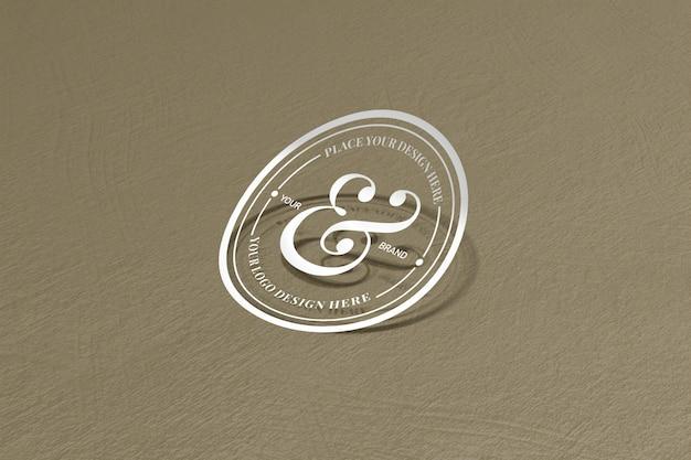 Cortar maquete de adesivo e logotipo