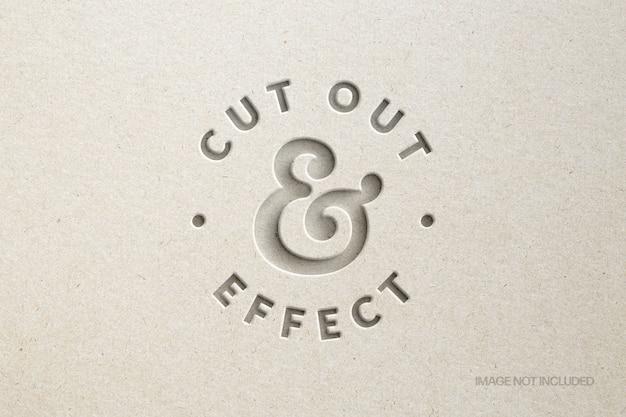 Corte maquete de efeito de texto em papel