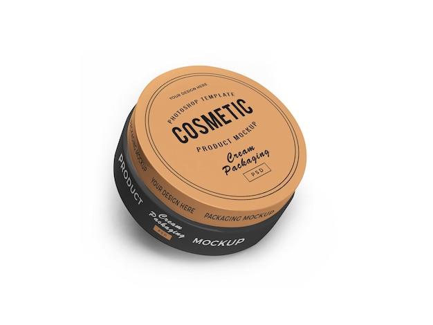 Cosmetic jar 3d mockup