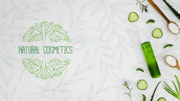 Cosméticos naturais com óleo orgânico