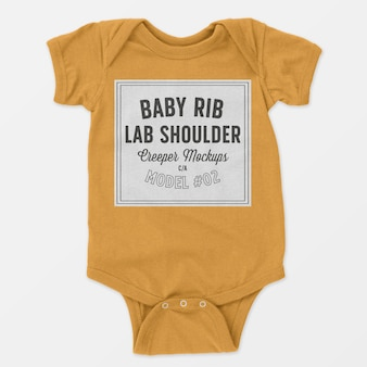 Costela de bebê colo ombro trepadeira maquete 02