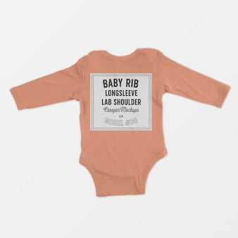 Costela de bebê longsleeve colo ombro trepadeira maquete