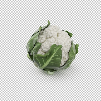 Couve-flor isométrica