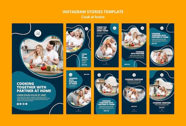 Cozinhando em casa instagram stories