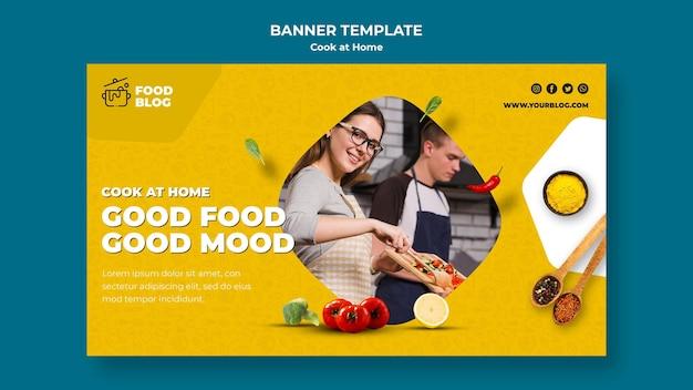 Cozinhar em casa banner tema