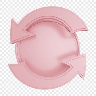 Crachá ou etiqueta com seta curva isolada
