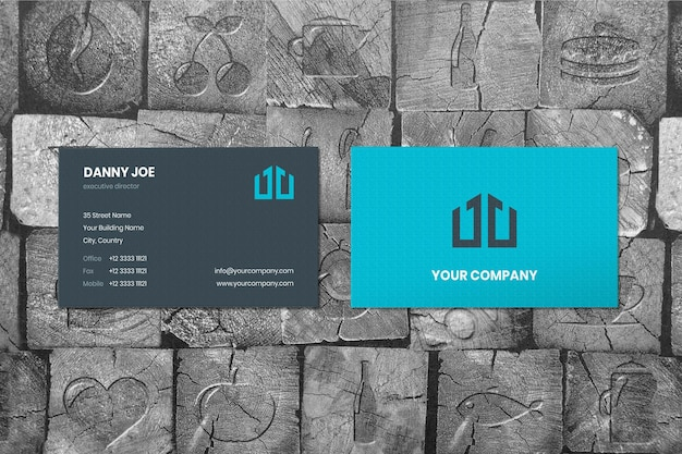 Crafting wood two businesscard mockup