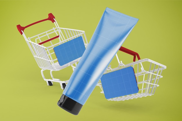 Cream tube shopping