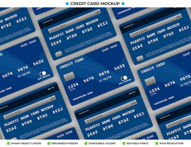 Crédito de plástico realista ou maquete de cartão de banco