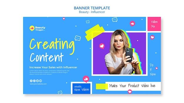 Criação de modelo de banner de conteúdo