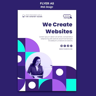 Criação de modelo de folheto de sites