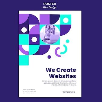 Criação de modelo de pôster de sites