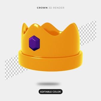 Criador de cena de coroa 3d isolado