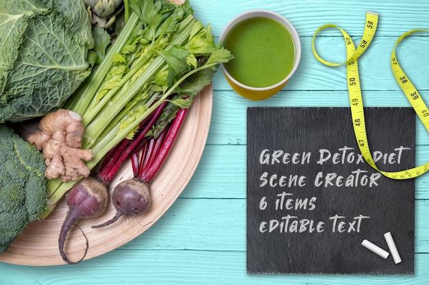 Criador de cena de dieta de desintoxicação vegetal