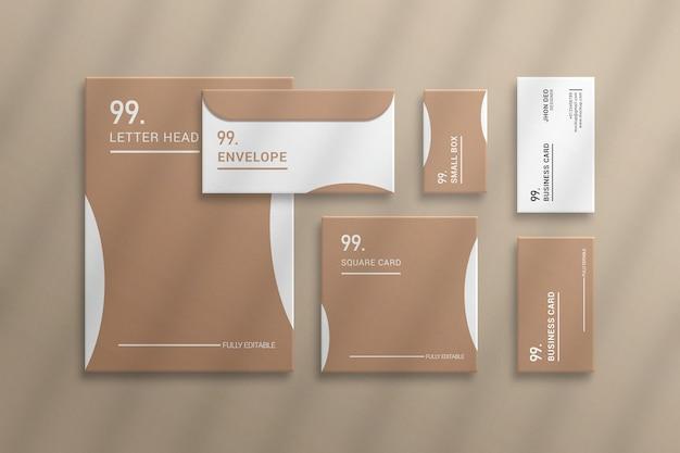 Criador de cena de identidade corporativa moderna e maquete de papelaria