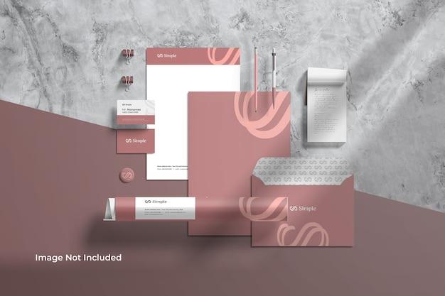 Criador de cena de maquete de identidade de marca para papelaria