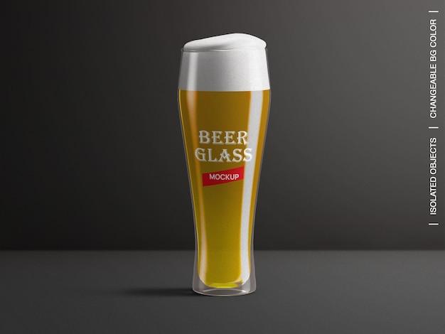 Criador de cena de maquete de rótulo de embalagem de vidro de cerveja isolado