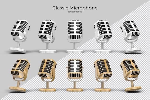 Criador de cena de microfone clássico 3d