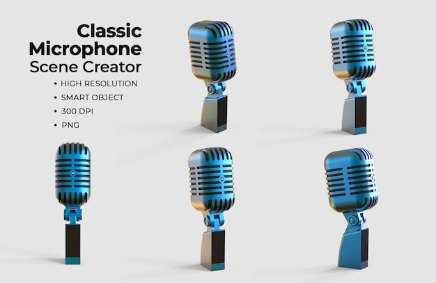 Criador de cena de microfone clássico