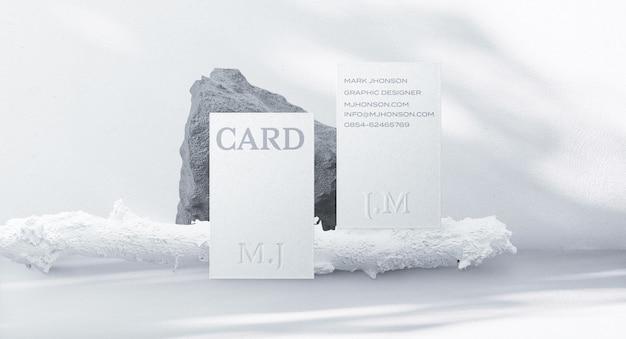 Criador de cena de mockup de cartão de visita mínimo