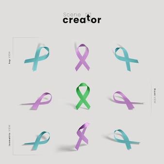 Criador de cena de símbolo de câncer