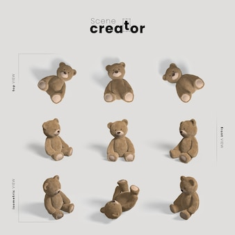 Criador de cena de ursinho de pelúcia