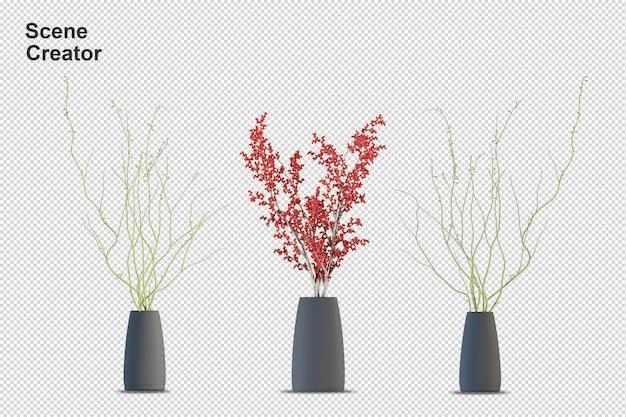 Criador de cena. plantas. elementos separados