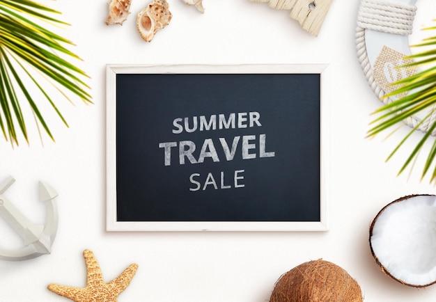 Criador de cenário de quadro de viagem de verão