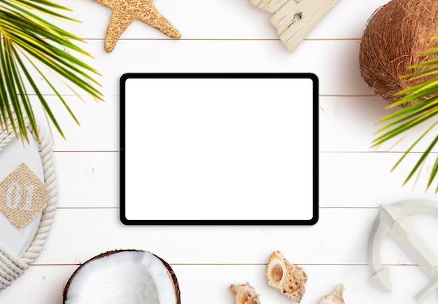 Criador de cenários de viagens de verão para tablets