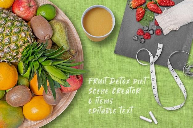 Criador de cenas de dieta de desintoxicação de frutas