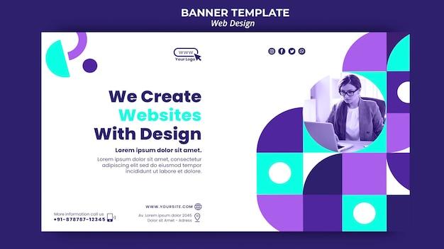 Criamos sites com modelo de banner de design