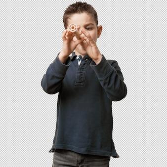 Criança tocando flauta