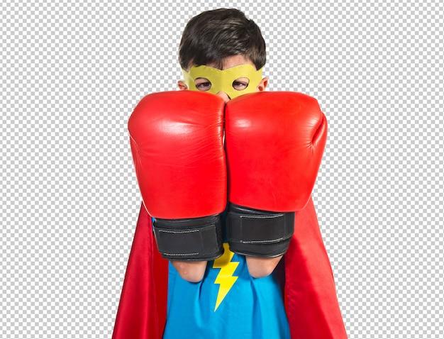 Criança, vestido, como, superhero