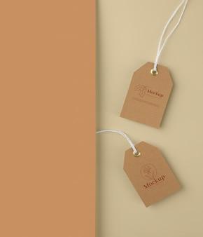 Criar maquete de design de tag