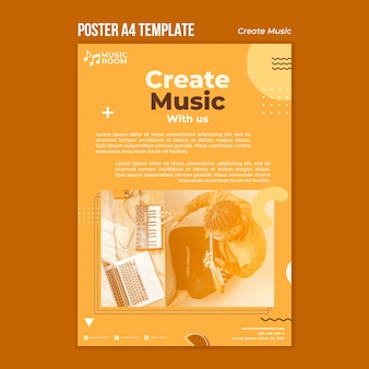 Criar modelo de pôster musical