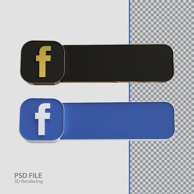 Criativo de rótulo do facebook de mídia social 3d